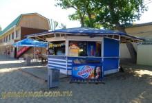Центр Анапы июнь вторая половина продуктовый павильон на городском пляже